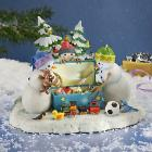 Lynn Bywaters The Magic Toy Chest Snowman Lighted