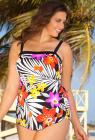 Maxine Easy Breezy Bandeau Sarong Front Swimsuit