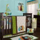 Zutano Elephants Four Piece Crib Bedding Set