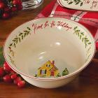 Holiday Home for the Holidays Bowl by Lenox