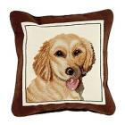 Dog Breed Needlepoint Pillow
