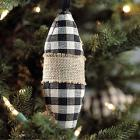 Fabric Drop Ornaments - Set of 3