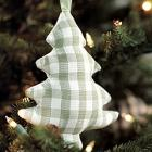Fabric Tree Ornaments - Set of 3