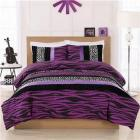 Cosmo Girl Purple Zebra Leopard Stripe Full Comfor