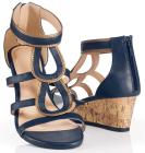 Indigo Zipperback Wedge