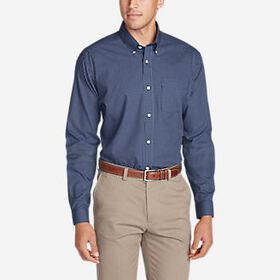 Men's Wrinkle-Free Slim Fit Pinpoint Oxford Sh