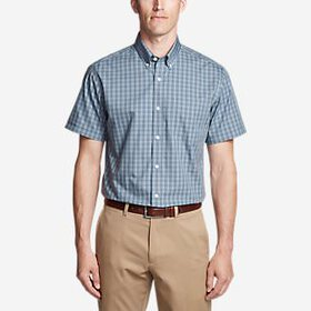 Men's Wrinkle-Free Relaxed Fit Short-Sleeve Pi