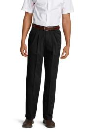 Men's Wrinkle-Free Relaxed Fit Pleated Perform