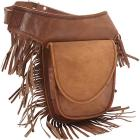 Sharo Leather Bags Leather Fringed Adjustable Hip