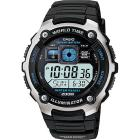 Casio Men's Silver-Tone and Black Multi-Functional