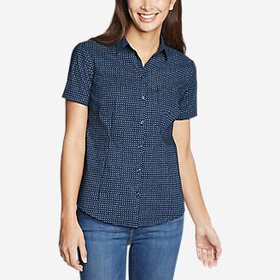 Women's Wrinkle-Free Short-Sleeve Shirt - Prin