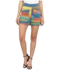 M Missoni Zig Zag Print Cotton Stretch Shorts