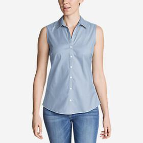Women's Wrinkle-Free Sleeveless Shirt - Solid