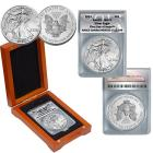 2013 MS70 ANACS FDOI Silver Eagle Dollar Coin