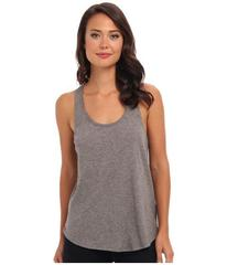 C&C California Heather Grey Double Banded Tank