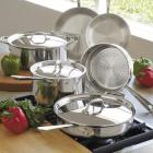 All-Clad Tri-Ply Stainless Steel 9-Piece Cookware