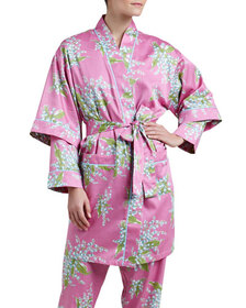 Bedhead Lily of the Valley Sateen Kimono Robe