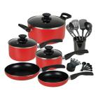 Gibson 25-Piece Cookware Combo Set, Red