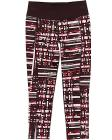GRAPHIC PLAID PRINTED CROP LEGGING