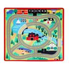 Melissa & Doug Round the Town Road Rug and Car Act