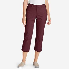 Women's Stretch Legend Wash Cropped Pants - Cu