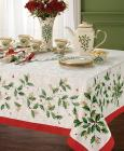 "Lenox Table Linens, 70"" Holiday Round Tablecl"