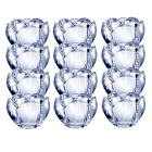 Mikasa Romantic Bloom Set of 12 Glass Votives