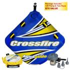 Aquaglide 2-Rider Crossfire 2 Towable Tube Package