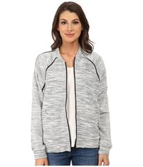 DKNY Jeans Textured Terry Mesh Trim Bomber