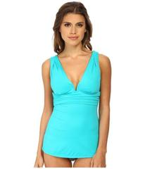 DKNY Beyond Glam Square U-Wire Tankini Top