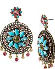 TURQS AND CAICOS FILIGREE CHANDELIER EARRINGS