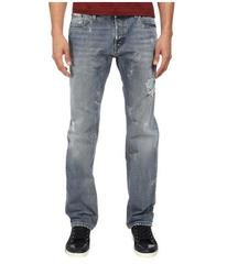Just Cavalli Distressed Regular Fit Denim in Blue