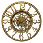 The Gear Round Wall Clock Gold - Infinity Instrume