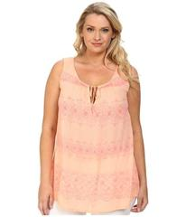 DKNY Jeans Plus Size Printed Lace Tank Top