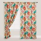 Watercolor Floral Concealed Tab Top Curtains, Set