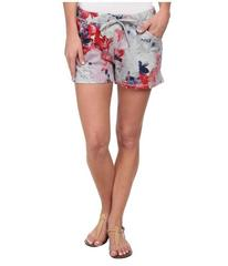 DKNY Jeans Floral Print Shorts in Light Smoke Heat