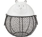 ED On Air Ceramic & Wire Animal Figural Basket by