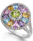 Multi-Stone Circle Ring (3-1/2 ct. t.w.) in Sterli