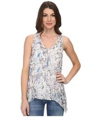 DKNY Jeans Tonal Butterfly Printed Tank Top