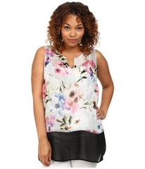 DKNY Jeans Plus Size Misty Rose Print and Color Bl