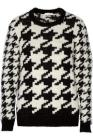 Sandro Serial chunky-knit houndstooth sweater