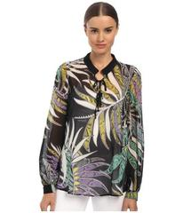 Just Cavalli Printed Lace-Up Blouse