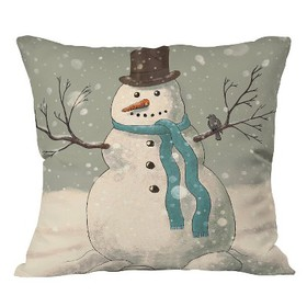 Gray Snowman Throw Pillow (20\ on sale at