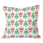 Green Painted Forest Throw Pillow (20\