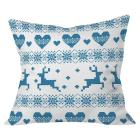 Cayman Turquoise Deer With Hearts Throw Pillow (20