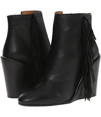 See by Chloe Pebbled Leather Wedge Bootie with A F