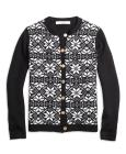 Girls Merino Wool Fair Isle Cardigan