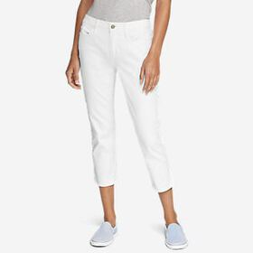 Women's Curvy Crop Jeans - White