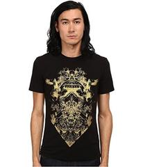 Just Cavalli Short Sleeve Gold Graphic Super Slim