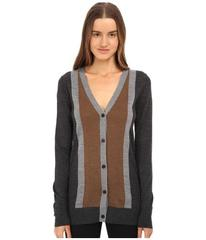 Vera Wang Merino Wool Cardigan w/ Stripes